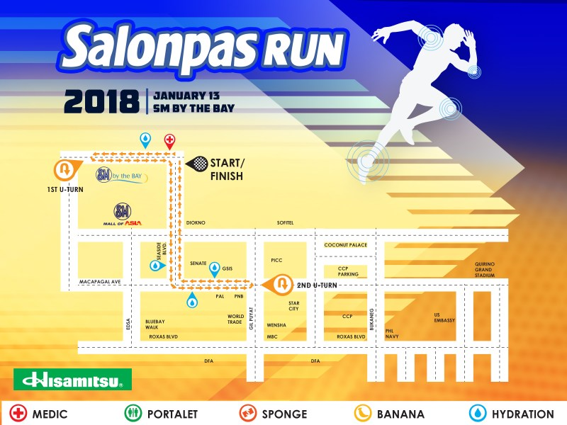 Salonpas Run 2018 - 5K Race Route