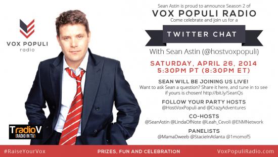 Sean Astin Vox Populi Twitter Chat 4:26