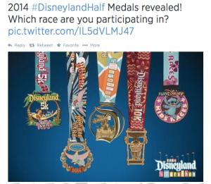 runDisney 2014 Disneyland Half Weekend Race Medals Revealed