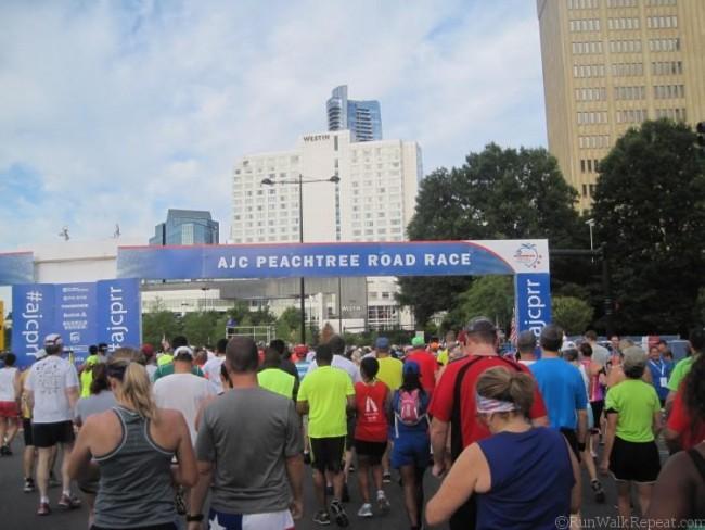 Peachtree Road Race Start