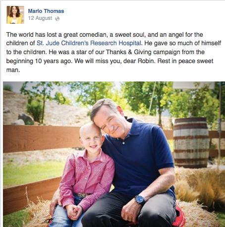 Marlo Thomas Facebook Page