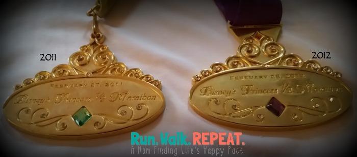 Princess Half Medals 2011 2012(1)