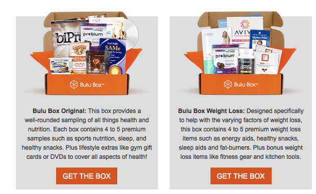 Bulu Box Subscription Types