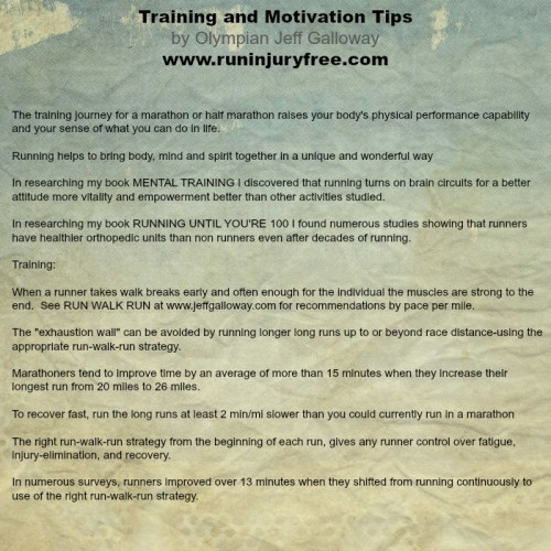 galloway training tips