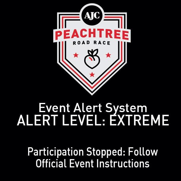 Peachtree Road Race Event Alert