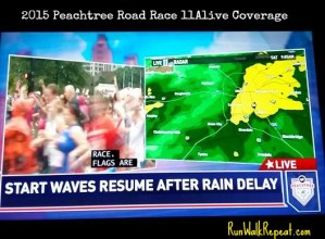 2015 Peachtree Road Race When 20,000+ Runners Get Weather Delayed