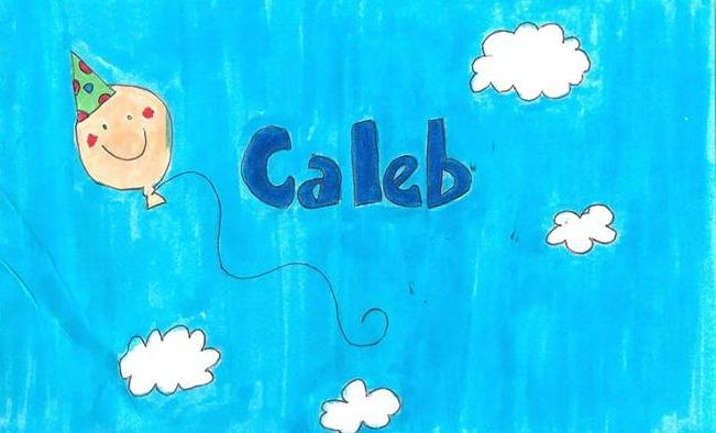 Caleb's Crib Nametag from the NICU