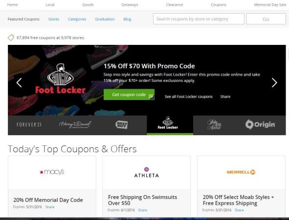Groupon coupons website