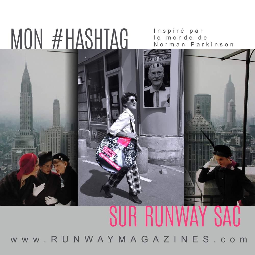Mon hashtag sur Runway Sac par Photographe de Mode - Norman Parkinson