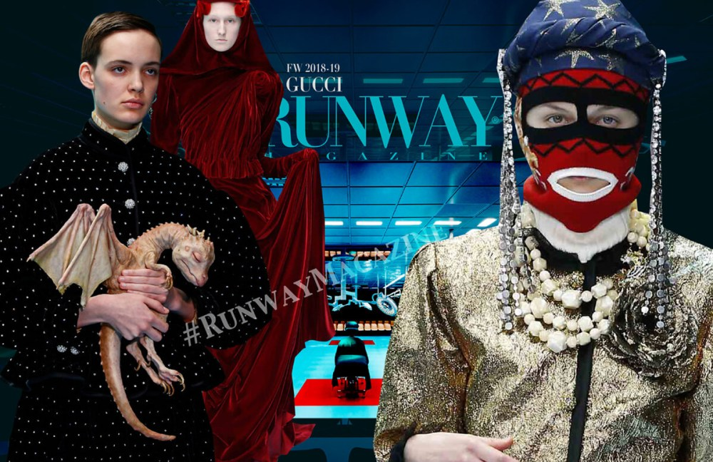 "GUCCI Fall-Winter 2018-2019 Milan by Runway Magazine <a href=""https://runwaymagazines.com"">RUNWAY MAGAZINE </a>"