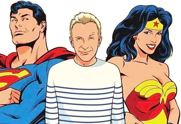 Jean-Paul-Gaultier-Runway-Magazine-comic-superman-wonderwoman