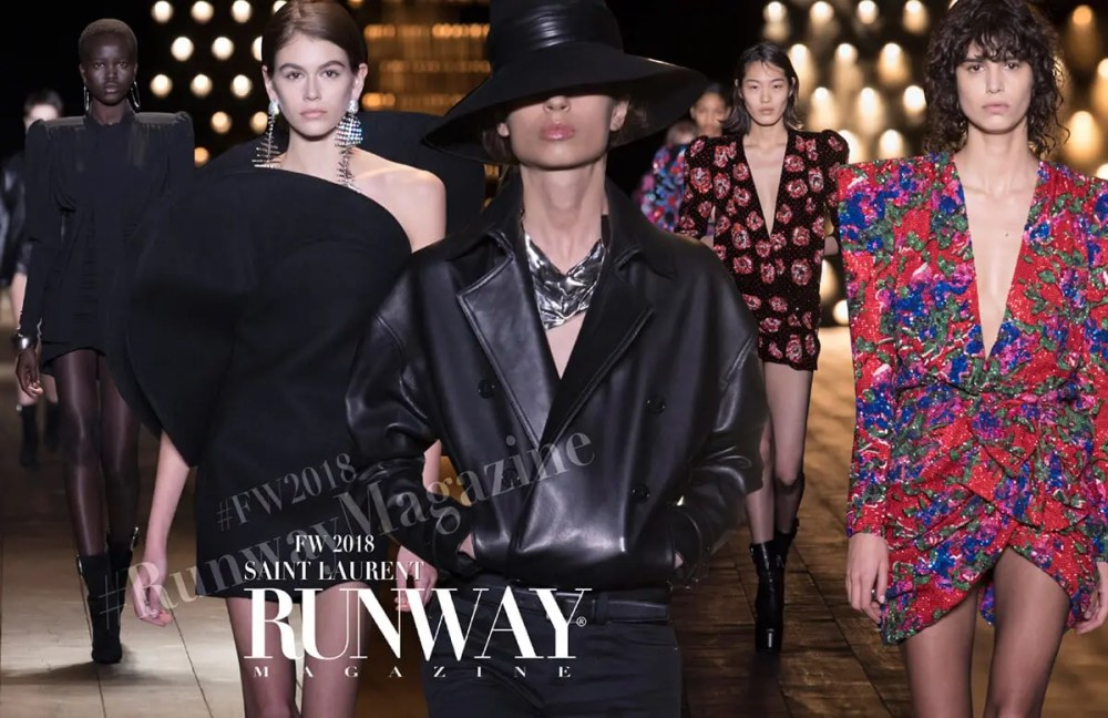 SAINT LAURENT Fall Winter 2018-2019 by Runway Magazine Paris Fashion Week