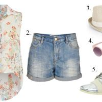 Denim Shorts With Oxfords