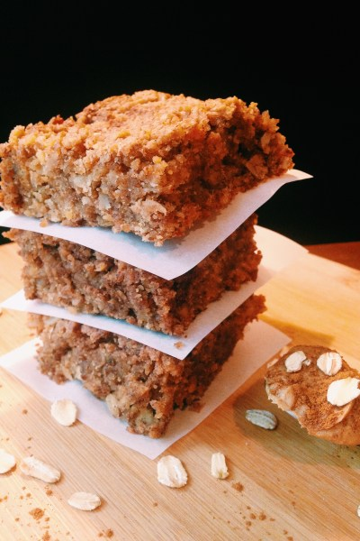 Flourless Cinnamon Oat Bars