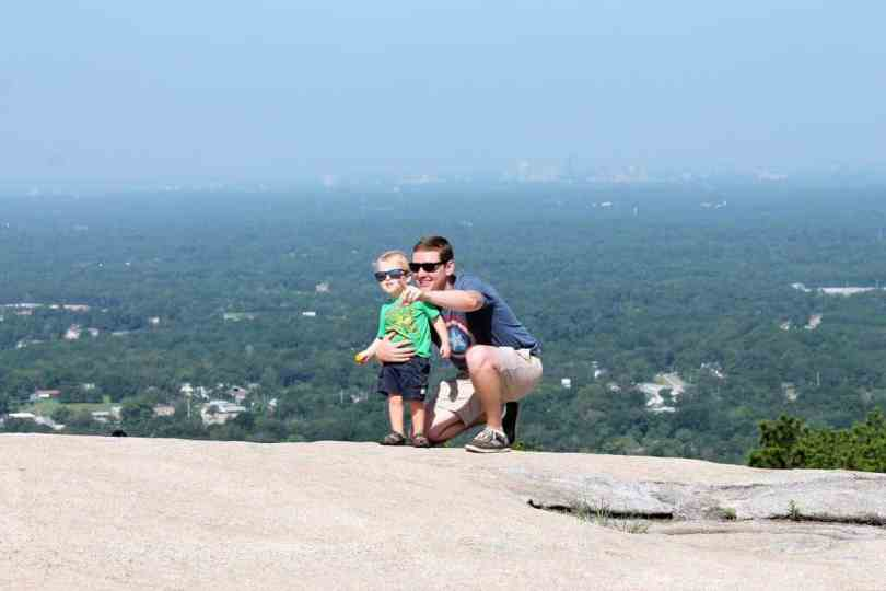 Family Photos at the Top of Stone Mountain