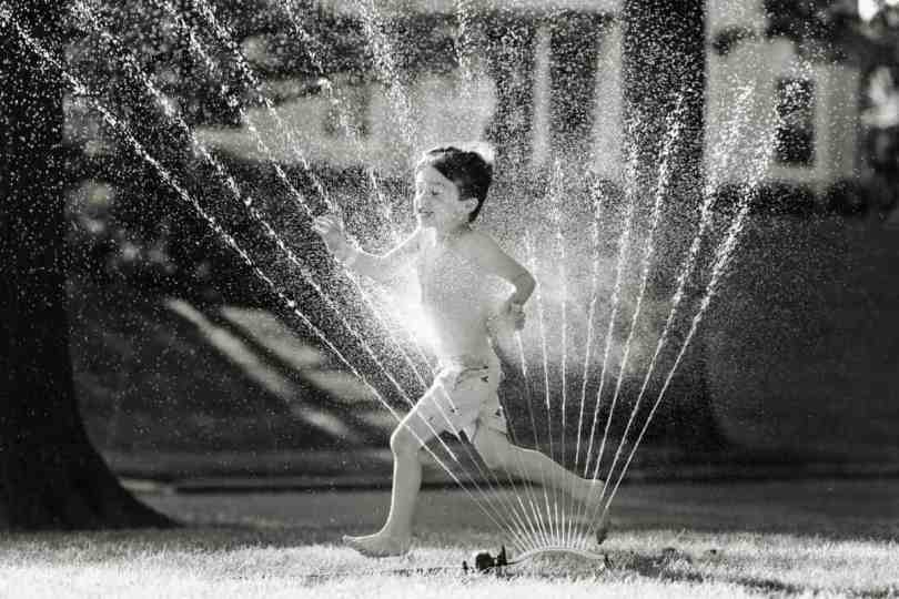 capturing amazing photos of kids playing in sprinklers