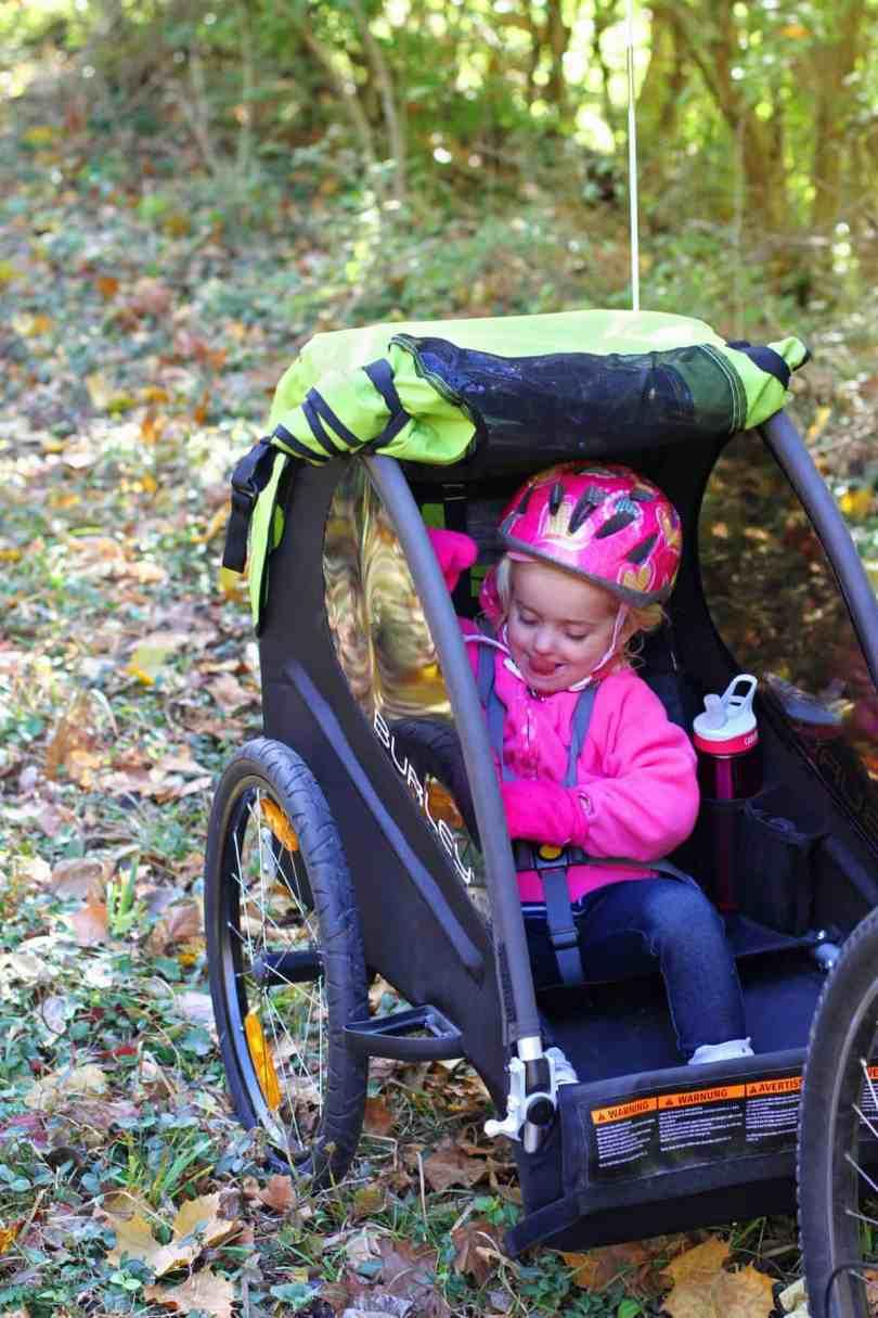 biking with kids burley minnow trailer