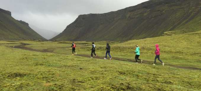Nutritionist and coach Lisa Paige attended the 2015 Iceland Trail Running + Wellness Retreat for women.