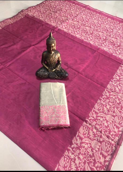 217b8ba85d2f7 Home   Silk   Raw Silk   Banglori handloom raw silk saree with contrast  blouse piece