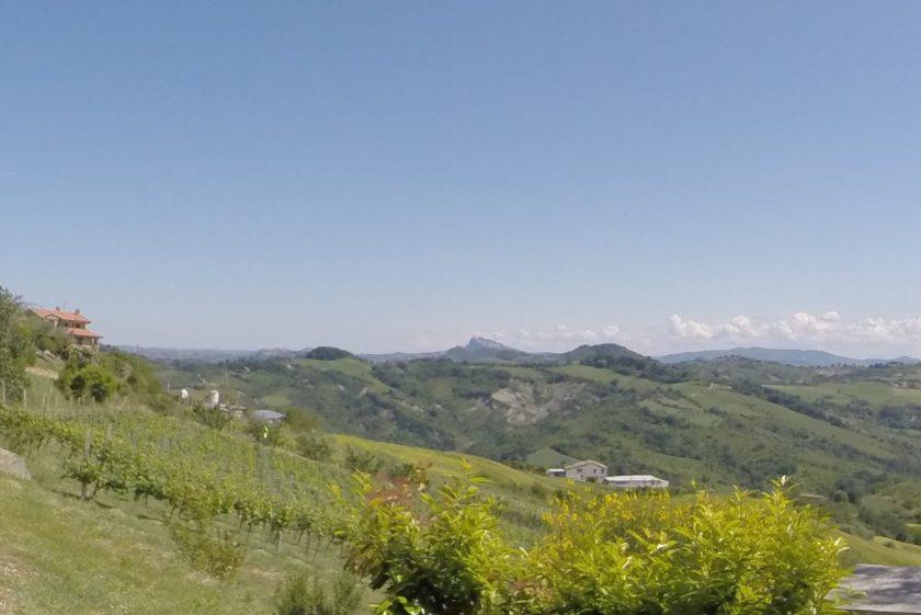 Sicht auf San Marino