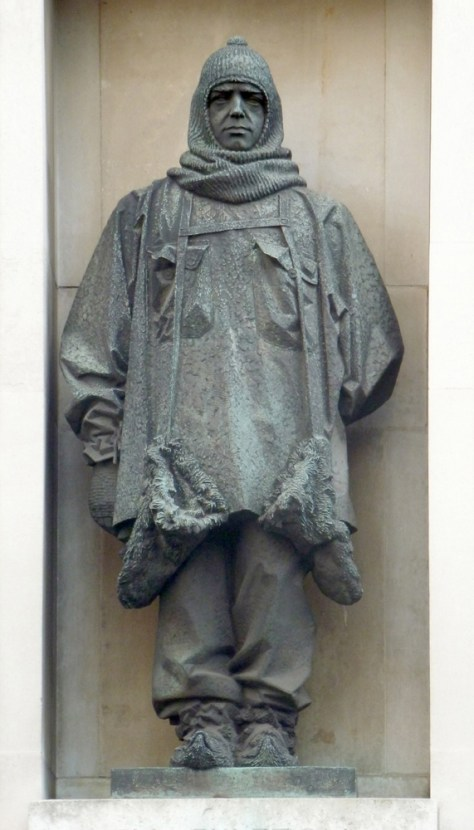 Charles Sergeant Jagger's bronze statue of Sir Ernest Shackleton, c.1932, Royal Geographical Society, London. Photo: © Rupert Shepherd