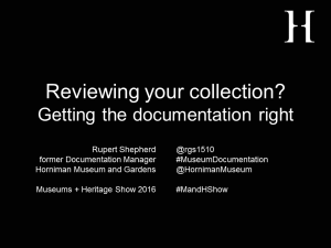 Reviewing your collection? title slide