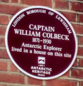 Memorial plaque to William Colbeck