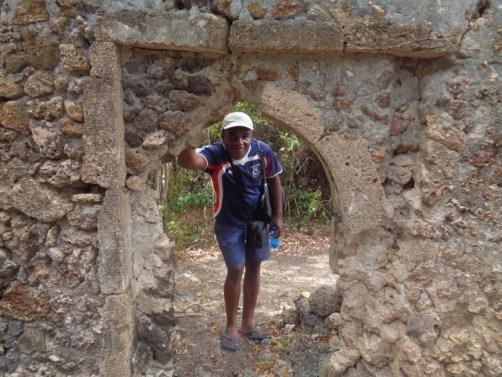 Kahindi at Kirepwe ruins, Mida Creek Watamu