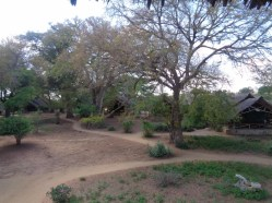 Beautiful grounds of Satao Camp in Tsavo East National Park