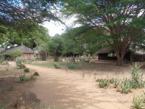 Grounds of Satao Camp in Tsavo East National Park