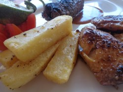 More than seafood - a chicken-steak platter Picture copyright Rupi Mangat