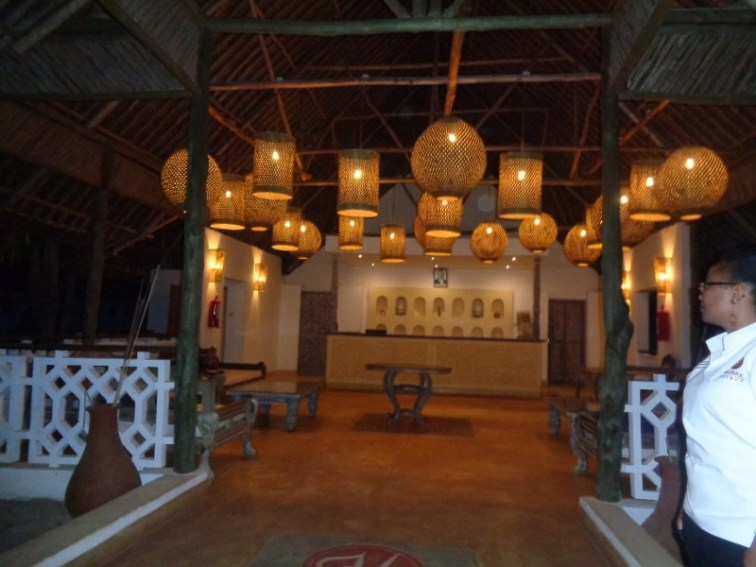 Amare Tiwi reception lit at night picture copyright Rupi Mangat