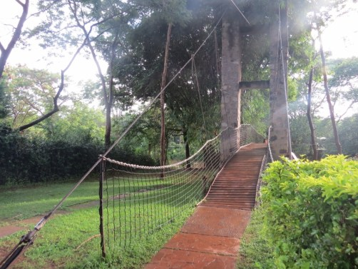 Bridge on Sagana River that flows into the mighty Tana River at Savage Wilderness