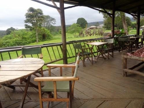 The verandah at Castle Forest Lodge on Mount Kenya Copyright Rupi Mangat