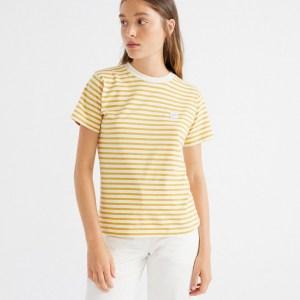 Mustard Stripes T-Shirt von Thinking Mu bei RUPP Moden