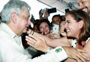 Mara recibe a López Obrador