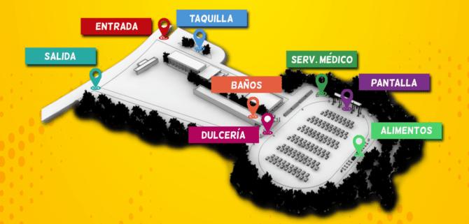 Mapa del Gran Autocinema