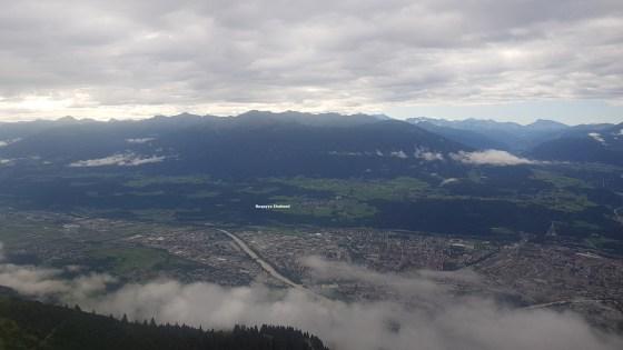 At the top of Innsbruck, Austria.