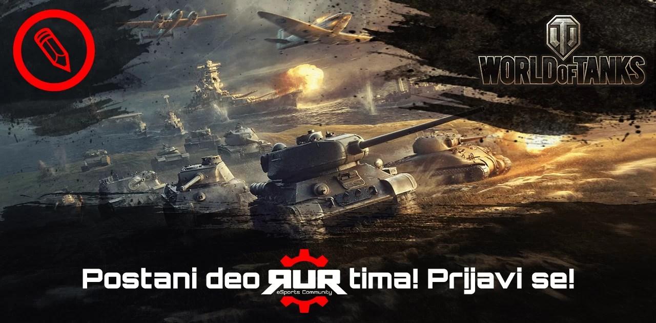 Odlično poznajete World of Tanks? Pridružite se RUR timu kao autor!