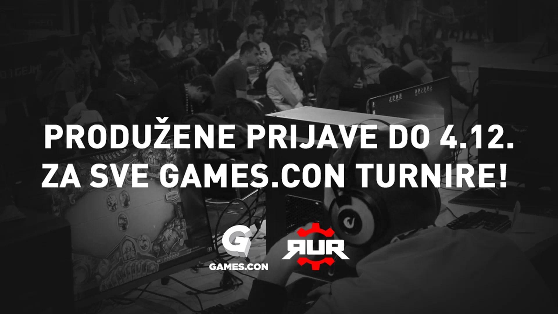 Poslednja prilika da se prijavite na Games.con turnire