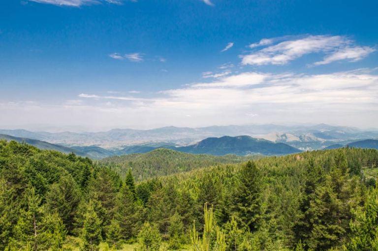 Mariovo panorama - view from Dobro Pole