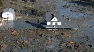 coal ash spill at Kingston, TN, photo from New York Times