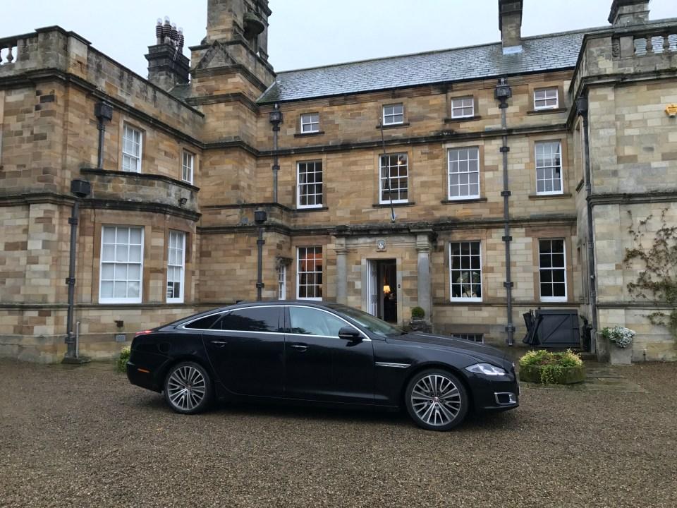 Jaguar XJL at Egton Shooting Estate, near Whitby in North Yorkshire