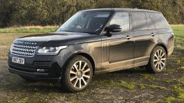 Range Rover on Wombleton Airfield