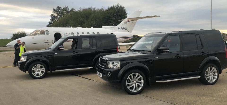 Private Jet Airside at Durham Tees Airport