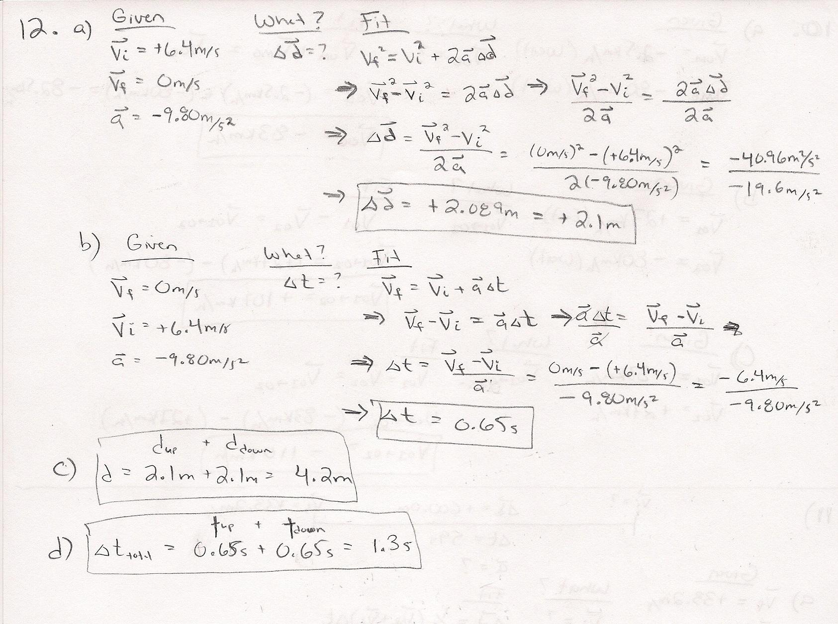 Physics Algebra Review Worksheet High School Physics