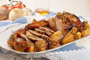 Lombo de porco assado no forno