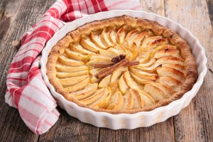 Tarte de maçã e canela