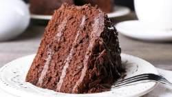 Bolo de chocolate recheado simples