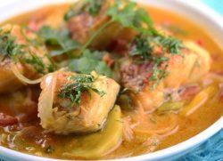 Caldeirada de bacalhau simples e deliciosa